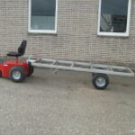mover electrotrekker met aanhangwagen