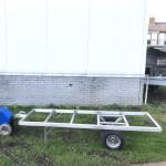 electrotrekker met hooiwagen strowagen